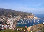 The charming town of Avalon on Catalina Island