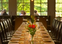 Cucina is an Italian restaurant that is set in a restored farmhouse