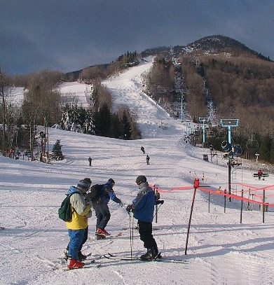 Hunter Mountain in the Catskills offers 14 chair lifts and tows and 53 different slopes