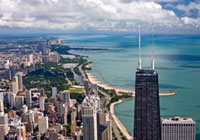 John Hancock Center Observatory offers stunning views across Chicago and Lake Michigan