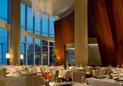 The dining room of Sixteen at Trump International Hotel & Tower Chicago