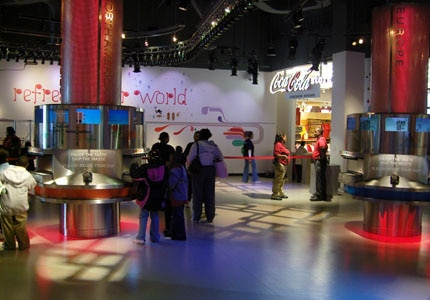"Inside the ""Taste It"" exhibit at The World of Coca-Cola in Atlanta, Georgia"