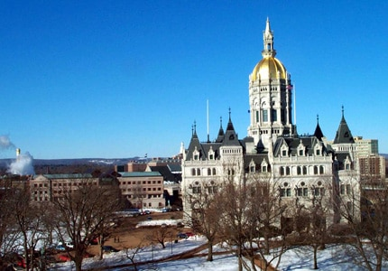 The Connecticut State Capitol Building in Hartford