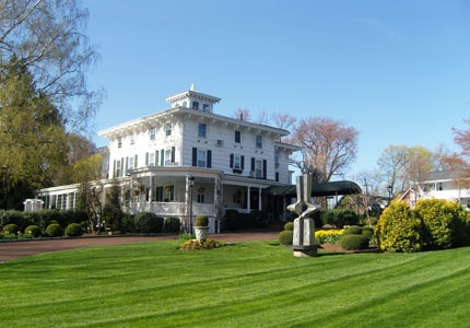 Beautiful day at the Homestead Inn luxury hotel in Greenwich, Connecticut, where you can dine at Thomas Henkelmann restaurant