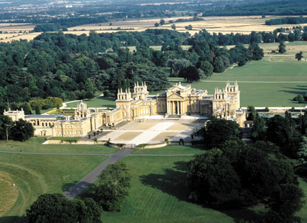 The extensive and impressive Blenheim Palace