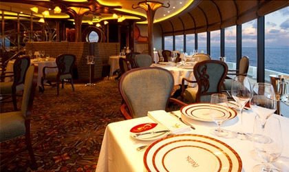 Disney Cruises' Remy restaurant offers fine French-inspired dining along with excellent views