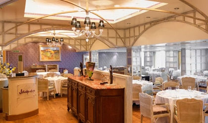 Jacques, aboard Oceania Cruises' Riviera, is the first restaurant to bear master chef Jacques Pépin's name