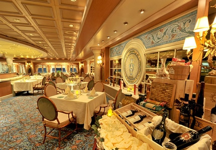 Princess Cruises offers fine dining in a sophisticated setting