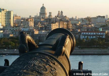 A view of Havana, Cuba, from El Parque Histórico Militar Morro Cabaña