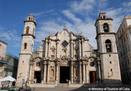 The Havana Cathedral is one of 11 Roman Catholic cathedrals in Cuba