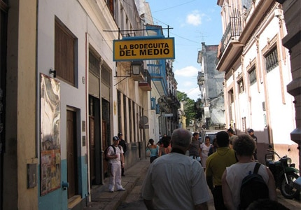 La Bodeguita del Medio in Havana, Cuba, lays claim to being the birthplace of the Mojito cocktail