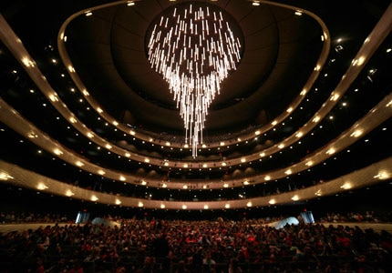 The Winspear Opera House in Dallas, Texas opened in November 1957 with a performance by Maria Callas