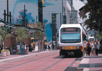 The DART light rail line makes getting around the downtown/Uptown area a breeze