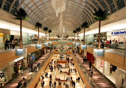 Go on a shopping spree at the Galleria in Dallas, Texas