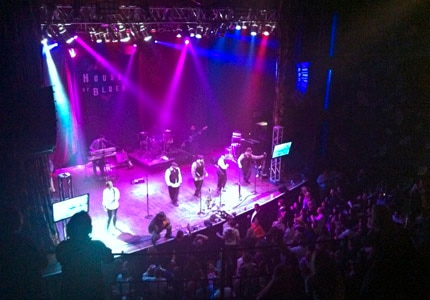 Enjoy the lively vibe during a performance at the House of Blues in Dallas, Texas