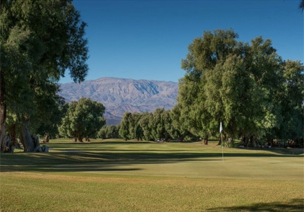 The golf course at Furnace Creek Resort in Death Valley, California