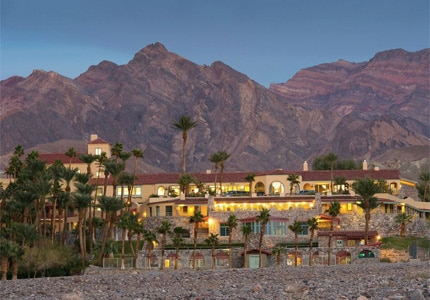 The exterior of Furnace Creek Resort in Death Valley, California