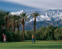 The golf course at Furnace Creek Resort in Death Valley, CA