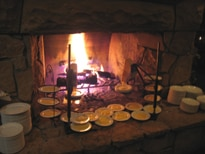 Fire roasted meals are available at Empire Canyon Lodge's fireside dining restaurant