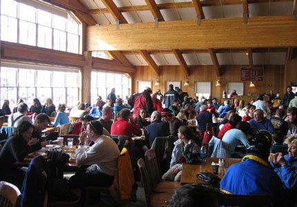 The dining room of Royal Street Café at Silver Lake Lodge in Park City, Utah