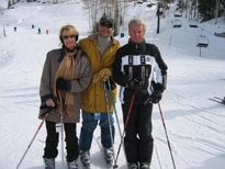Olympic medal skier Stein Eriksen hits the slopes in Deer Valley with two ski afficionados