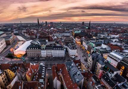 A sweeping view of Denmark's capital, Copenhagen