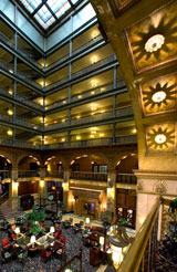 The atrium of The Brown Palace Hotel in Denver