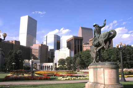 Denver viewed from Civic Center Park