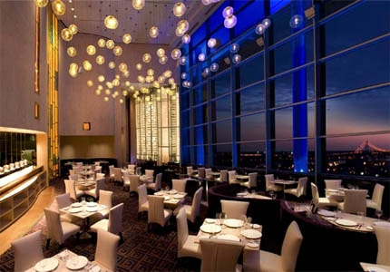 The dining room of Iridescence in Detroit, Michigan