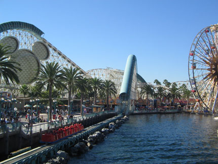 Disney's California Adventure offers a more relaxed experience than neighboring Disneyland