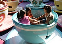 Go for a spin on the Mad Tea Party at Disneyland