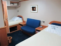 Guest accommodations of Yacht Isabella II in the Galapagos