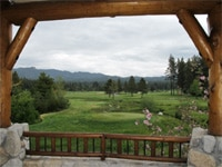 Golf course view from Brooks' Golf Bar & Deck at Edgewood Tahoe in Nevada