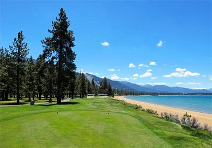 Hole 17, par 3 at Edgewood Tahoe