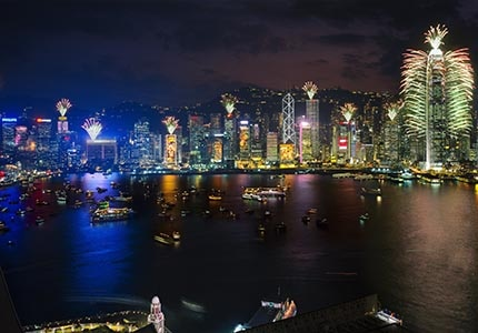 The most popular place in Hong Kong to ring in the New Year is at Victoria Harbour, the largest harbor in China