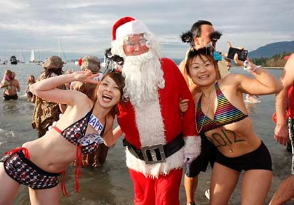 The Vancouver Polar Bear Swim (held since 1920) in the icy English Bay on Jan. 1