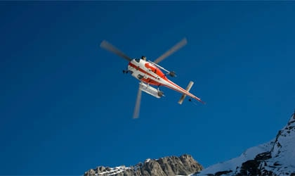 An On Call International emergency rescue helipcopter en route