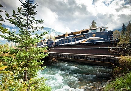 Rocky Mountaineer in Albert Canyon near Glacier National Park, BC