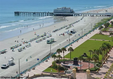 A view of Daytona Beach and Main Street Pier