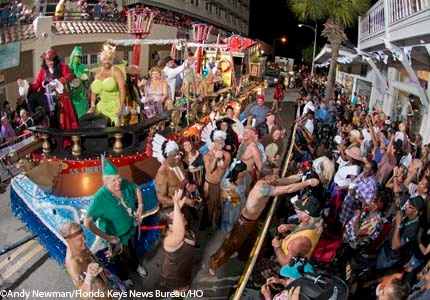 Partygoers at Key West's annual Fantasy Fest