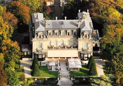 A view of Chateau Les Crayeres, one of GAYOT's Top 10 Hotels in France