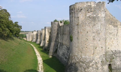 The ramparts of Provins, France