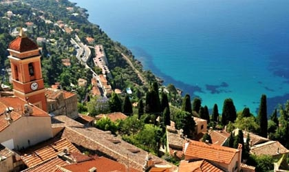 View from the village of Roquebrune-Cap-Martin