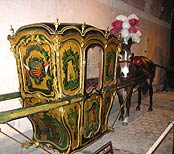 Horse drawn palanquin at Vaux-le-Vicomte in France