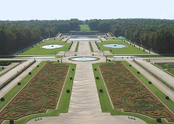 The gardens of Vaux-le-Vicomte in France