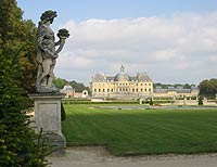 Immaculately maintained grounds of Vaux-le-Vicomte in France