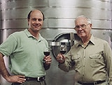 Alain Gayot and Bell Mountain Winery founder Rob Oberhellman