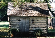 Pape Log Cabin, one of the oldest buildings in Fredericksburg