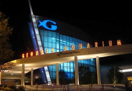 Atlanta's Georgia Aquarium, designed to look like a ship