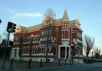 This branch of the Georgia Bank & Trust was once the Augusta Cotton Exchange Building during the 19th century